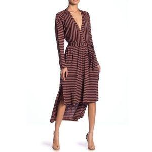 Striped High/Low Dress
